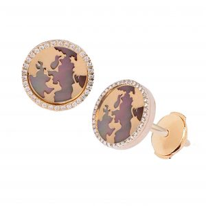 My World Earrings, Grey Mother of Pearl