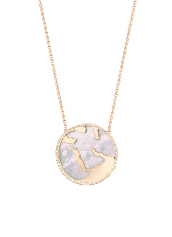 My World Special Necklace, White Mother of Pearl