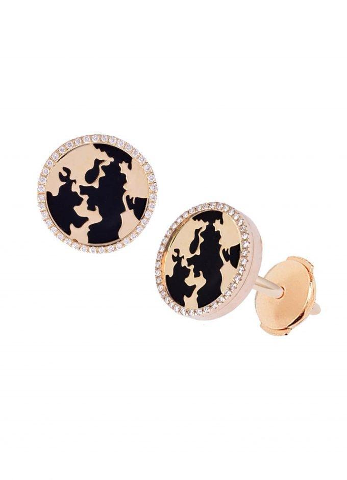 My World Earrings, Black Onyx