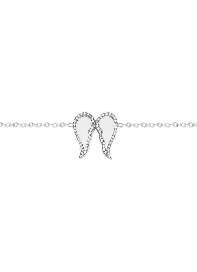 Freedom Bracelet, Outlined In Diamonds