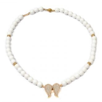 Freedom Necklace / Earrings, White Agat (Copy)