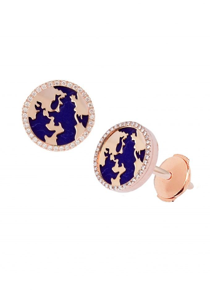 My World Earrings, Lapis