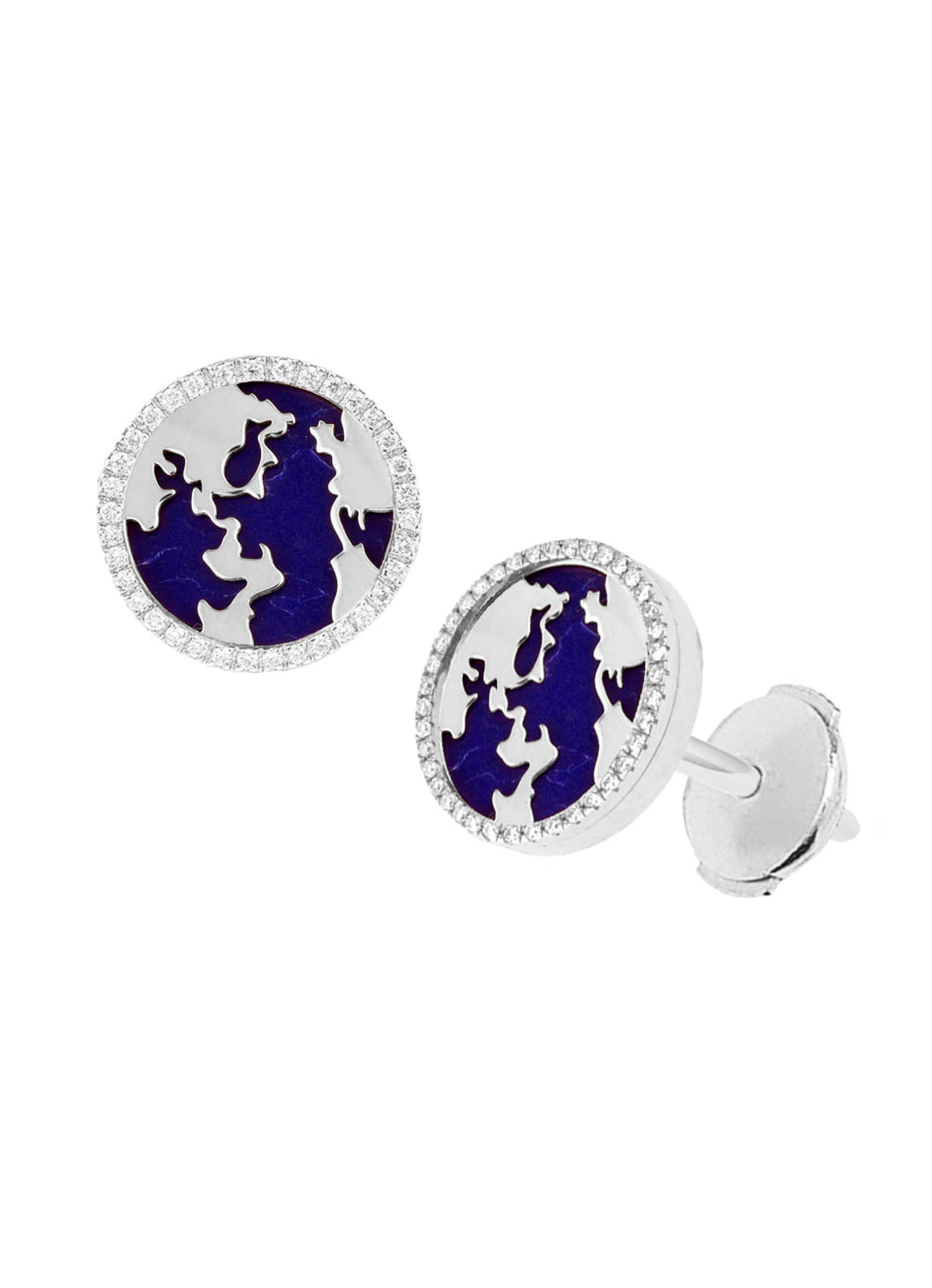 My World Earrings, Lapis