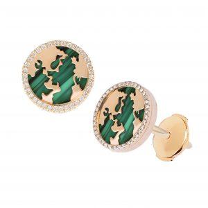 My World Earrings, Malachite