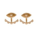 earring gold and diamonds earring (rose gold)