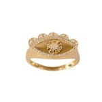 ring gold and diamonds (rose gold)